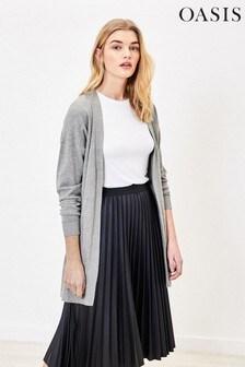 Oasis Grey Open Front Cardigan