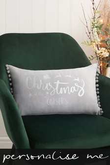 Personalised Family Christmas Cushion