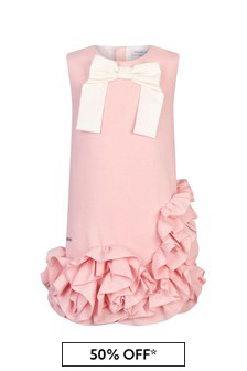 Jessie And James Girls Pink Avantgarde Dress