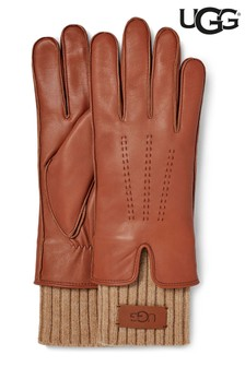 UGG Chestnut Leather Gloves