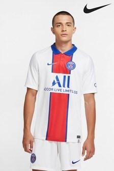 Nike White PSG 20/21 Away Football Shirt