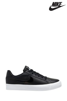 Nike Black/White Court Royale AC Trainers