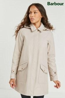 Barbour® Tartan Cream Waterproof Lightweight Jacket
