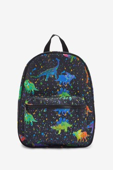 Black Cosmic Dinosaur Print Bag