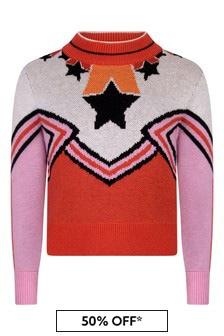 Girls Ivory/Pink Cheerleader Jumper