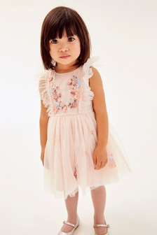 Pink Mesh Party Dress (3mths-7yrs)