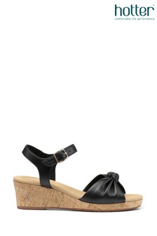Hotter Palmas Buckle Fastening Wedge Sandals