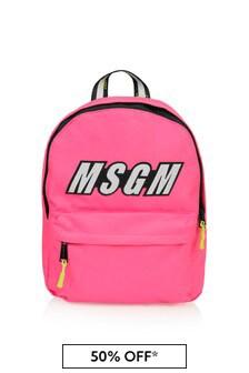 Girls Fuchsia Logo Backpack