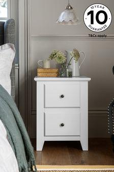 Grey Ashington 2 Drawer Bedside Table