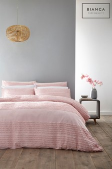Malmo Cotton Tufted Duvet Cover And Pillowcase Set by Bianca
