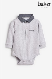 Baker by Ted Baker Baby Boys Grey Polo