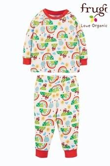 Frugi GOTS Organic Kids Pyjamas - Happy Days Print