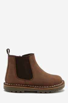 Chocolate Leather Chelsea Boots (Younger)