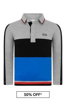 Boys Cotton Jersey Poloshirt