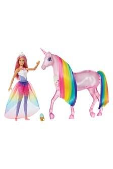 Barbie Dreamtopia Magical Lights Unicorn & Barbie Princess Doll