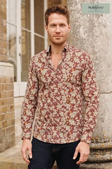 Leicester Slim Fit Single Cuff Morris & Co. at Next Signature Print Shirt