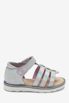 Iridescent Gladiator Sandals (Younger)