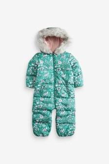 Floral Shower Resistant Snowsuit (3mths-7yrs)