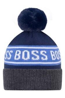 Baby Baby Boys Blue Cotton Beanie Hat