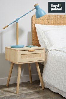 Natural Light Rattan 1 Drawer Bedside Table By Lloyd Pascal