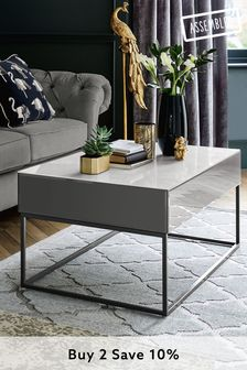 Grey Sloane Storage Coffee Table