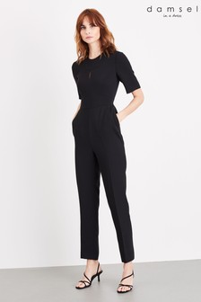 Damsel In A Dress Black Nina City Suit Jumpsuit