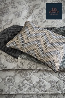 Bedeck of Belfast Canna Chevron Embroidered Cushion