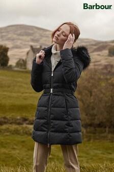 Barbour® Tartan Textured Effect Oykel Longline Padded Jacket