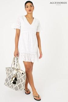 Accessorize White Schiffly Mini Dress