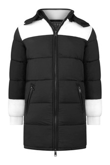Kids Black Padded Coat
