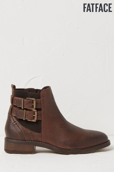 FatFace Brown Dalby Strap Chelsea Boots