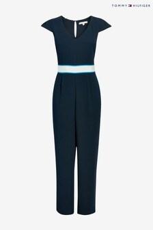 Tommy Hilfiger Blue Crepe Jumpsuit