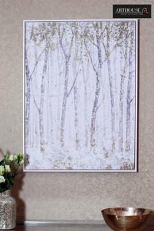 Glitter Trees Capped Canvas by Arthouse