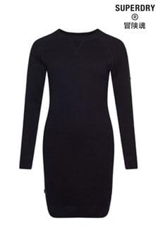 Black Superdry Studios Essential Knit Dress