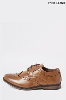 River Island Brown Light Brogues