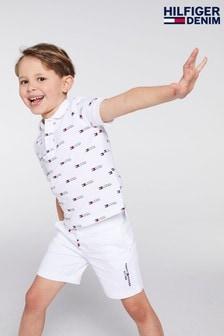 Tommy Hilfiger White Essential Logo Sweatshorts