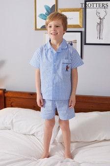 Trotters London Blue Alfred Pyjamas