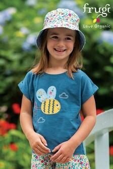 Frugi Organic Cotton Navy Bee T-Shirt