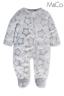 M&Co Grey Star Sleepsuit