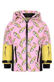 Girls Pink Lightning Ski Jacket