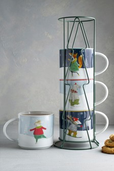 Christmas Stacking Mugs