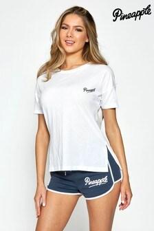 Pineapple Side Slit T-Shirt