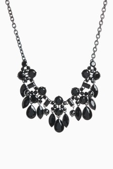 Black Jewel Statement Necklace