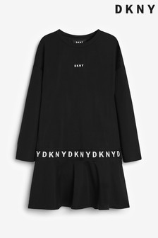 DKNY Black Logo Dress