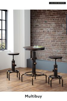 Set Of 2 Rockport Pipework Bar Stools By Julian Bowen