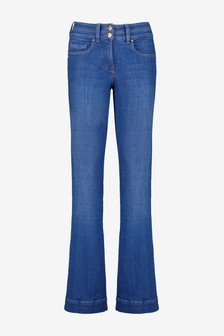 Bright Blue Lift, Slim And Shape Flared Jeans