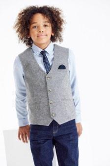 Grey Heritage Waistcoat, Shirt And Tie Set (12mths-16yrs)
