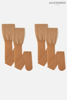 Accessorize 20 Denier Body Control Luxury Italian Tights 2 Pack