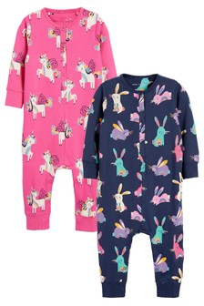 Pink/Navy Character 2 Pack Jersey All-In-One With Poppers (9mths-8yrs)