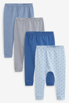 Blue 4 Pack Star Stretch Leggings (0mths-3yrs)